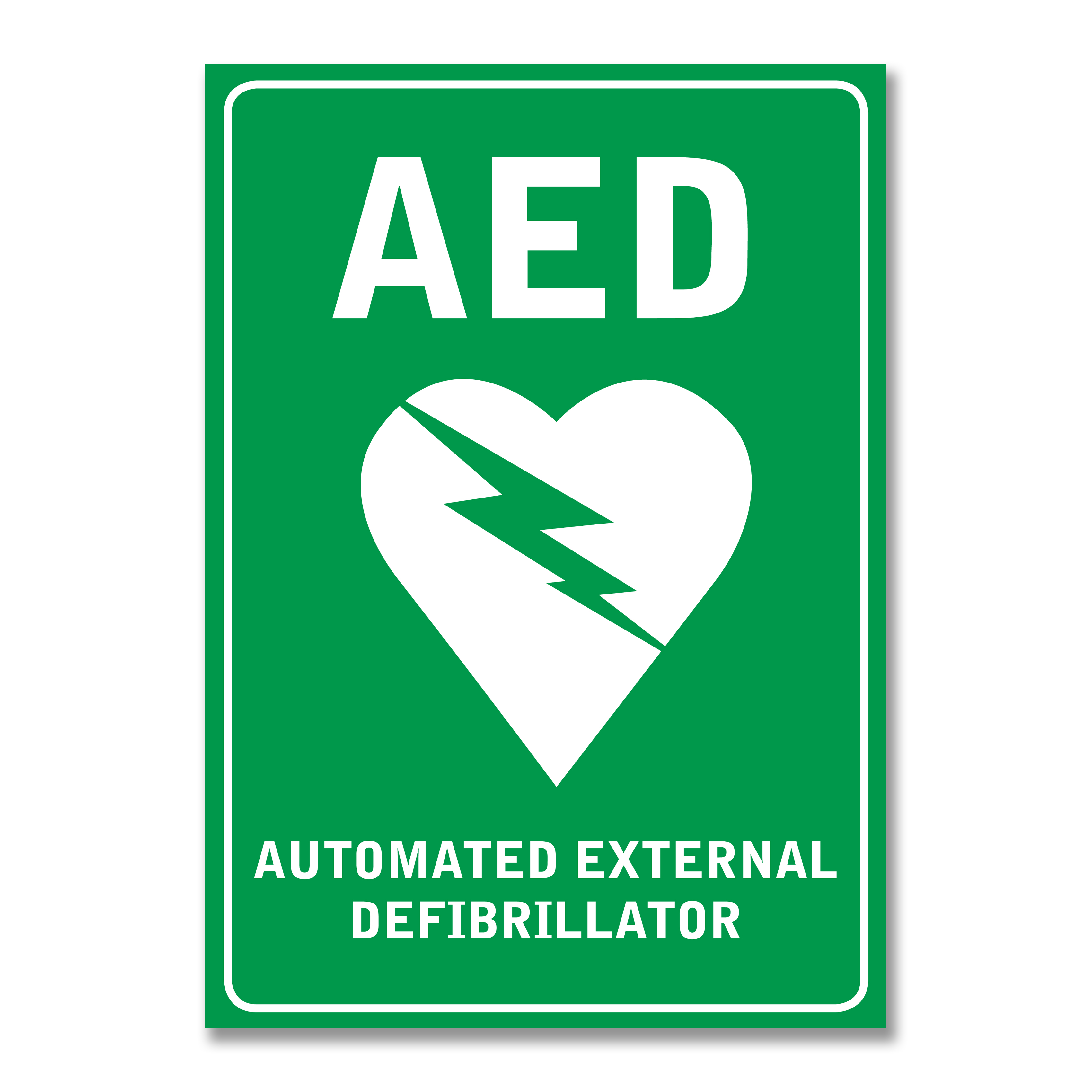 Pad Acc 05 Aed Wall Sign Sticker St James First Aid